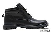 Мужские кожаные зимние ботинки  Military Leather black