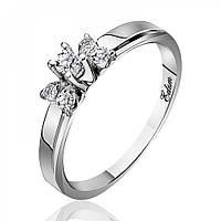 """Золотое кольцо с бриллиантами """"Мания величия"""", белое золото, КД7420/1 Eurogold"""