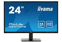 "Монитор 23.6"" IIYAMA ProLite X2474HV-B1 (MVA, 1920x1080, 16:9, VGA, Flicker Free)"