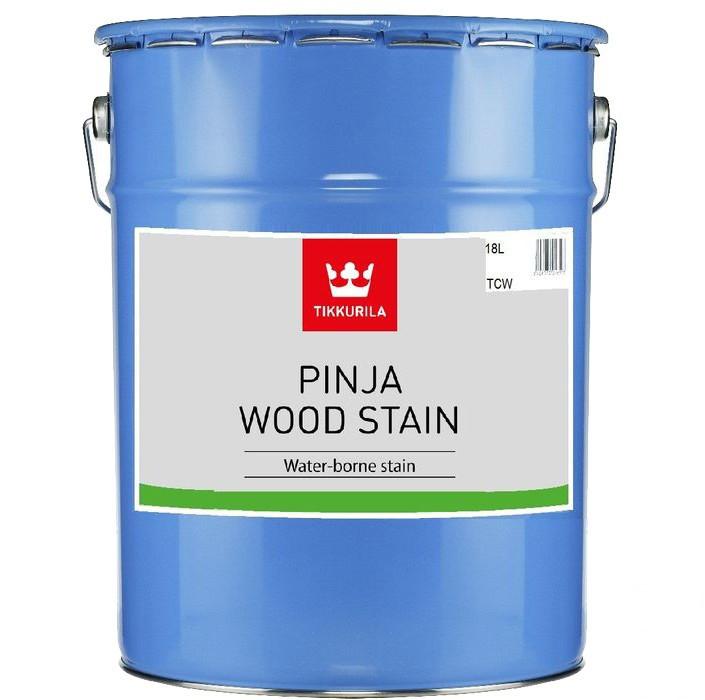 Водорозчинний антисептик для захисту деревини Tikkurila Pinja Wood Stain (Пінья Вууд Стейн) 18л