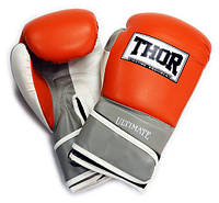 Боксерские перчатки Thor Ultimate (PU) OR/GR/WH 10 oz.