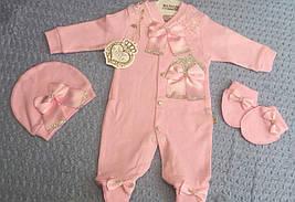 Ошатний чоловічок для новонароджених, на дівчаток 0-6 місяців