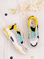Женские кроссовки с верхом из разных цветов 25799, фото 1