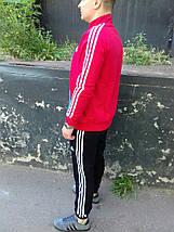 Мужской спортивный костюм Adidas.Красный/Черный/Синий.KD-1568, фото 3