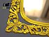 Зеркало настенное Adana в золотой раме, фото 6