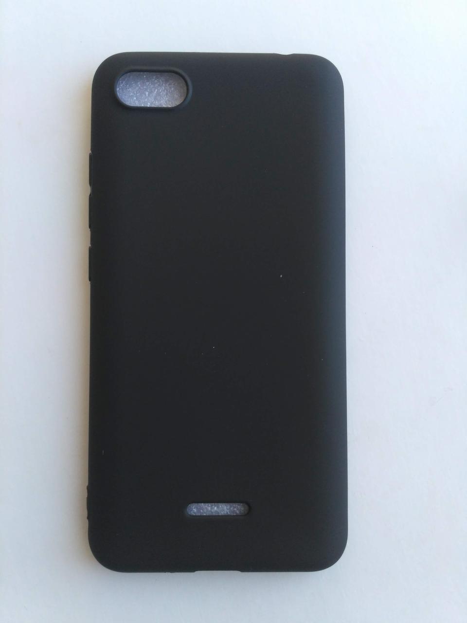 Силиконовый чехол Xiaomi Redmi 6a черный матовый