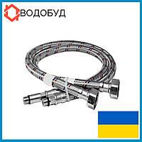 Подводка к смесителю в нерж. оплетке 200 см, 1/2хМ10