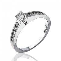 """Золотое кольцо с бриллиантами """"Пламенная страсть"""", белое золото, КД7470/1 Eurogold"""