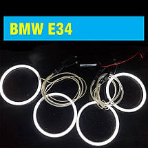 Ангельские глазки (4*120 мм) CCFL для BMW E34 белые, фото 2