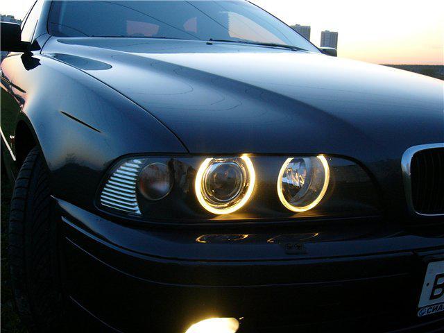 Ангельские глазки (4*120 мм) CCFL для BMW E32 желтые