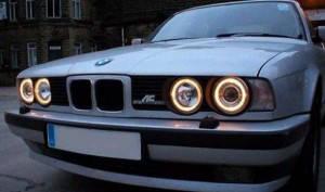 Ангельские глазки (4*120 мм) CCFL для BMW E32 желтые, фото 3