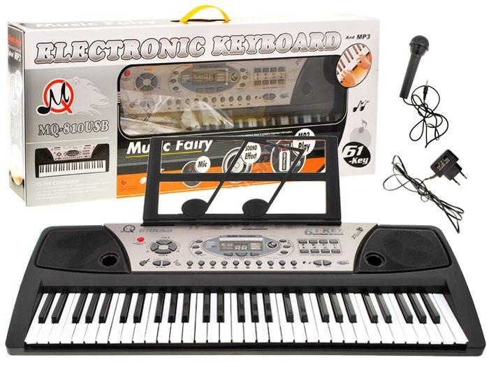 Дитячий синтезатор MQ-810USB, 61 клавіша