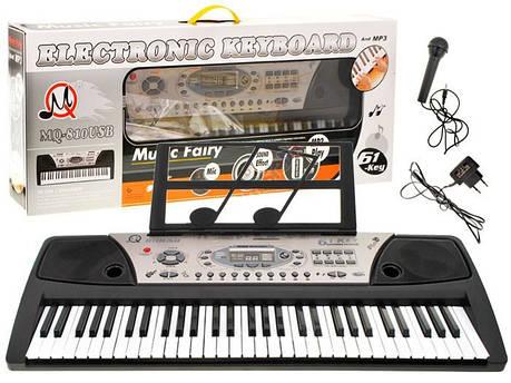 Дитячий синтезатор MQ-810USB, 61 клавіша, фото 2