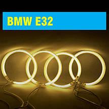 Ангельские глазки (4*120 мм) CCFL для BMW E32 желтые, фото 2