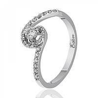 """Золотое кольцо с бриллиантами """"Небо в алмазах"""", белое золото, КД7488/1"""