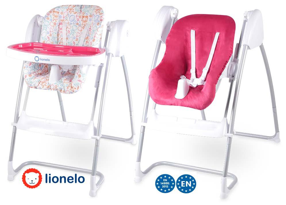 Кресло-качалка Lionelo Milan 2в1 Pink