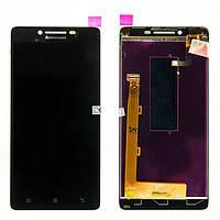 Экран на Lenovo A6000/K3 (K30-T)/K3 (K30-W)(Леново А6000/К3) черный оригинал (китай)