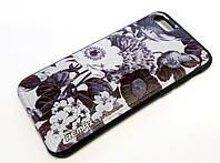 Чохол для iPhone 7 силіконовий Remax з малюнком квіти чорний