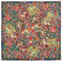 10200-10, павлопосадский платок шерстяной (разреженная шерсть) с швом зиг-заг