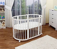 Кроватка для младенца 7 в 1, белая