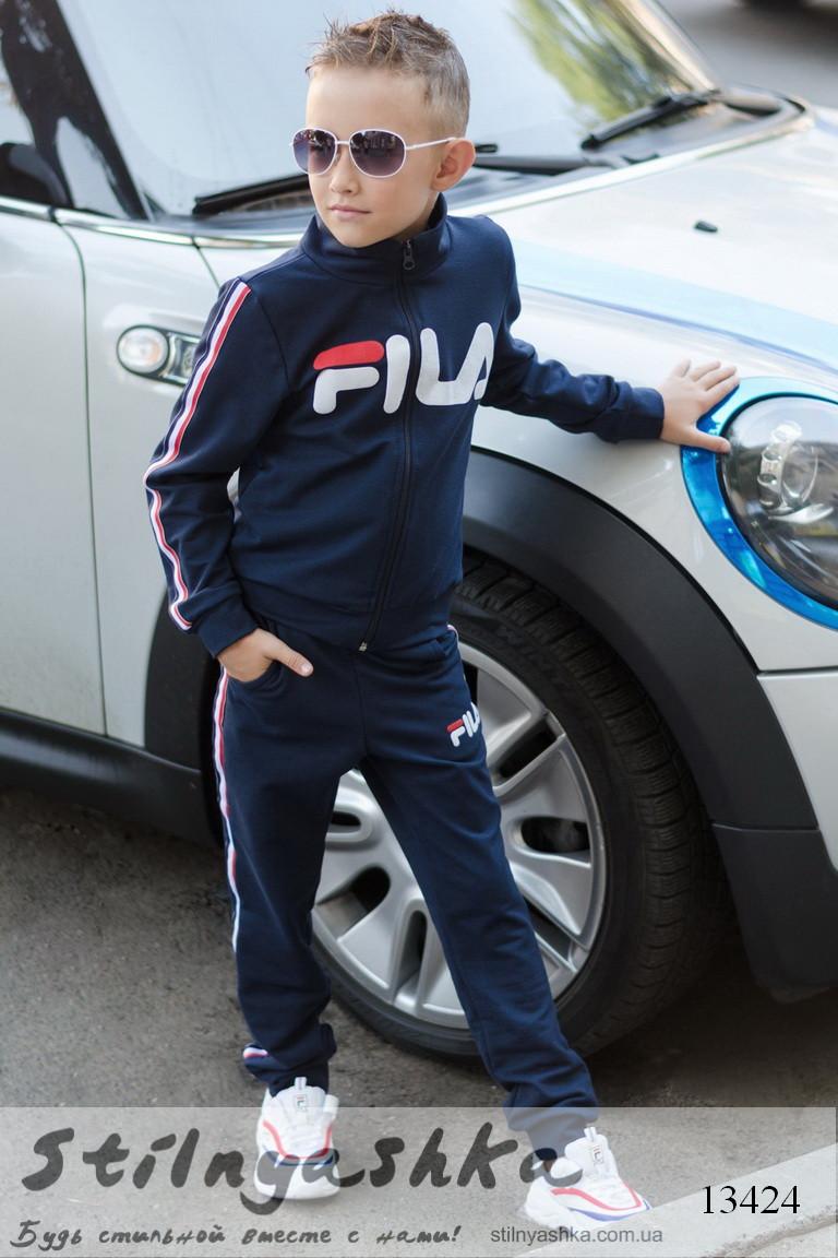 Детский спортивный трикотажный костюм Fila синий, фото 1