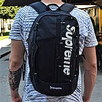 Рюкзак Supreme Черный Модель №5 Топ Реплика Топ Реплика Хорошего качества