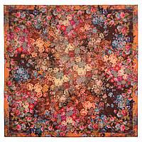 10200-16, павлопосадский платок шерстяной (разреженная шерсть) с швом зиг-заг, фото 1
