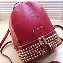 Рюкзак, портфель Майкл Корс шипи, в червоному кольорі, натуральна шкіра