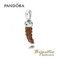 Pandora Кулон-подвеска КРАСНЫЙ АМУЛЕТ КОРНО #397203EN07 серебро 925 Пандора оригинал