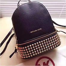 Рюкзак, портфель Майкл Корс шипи, в чорному кольорі, натуральна шкіра