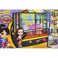 Домик 'LPS' 5003 сборный, с куклой, мебельюдля ванной, в кор.48-31-7см