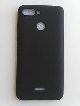 Силиконовый чехол Xiaomi Redmi 6 черный матовый