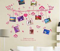 Интерьерная наклейка на стену Птички с фото