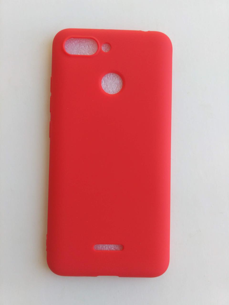 Силиконовый чехол Xiaomi Redmi 6 красный матовый