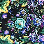 Диво дивное 1798-12, павлопосадский платок (шаль) из уплотненной шерсти с шелковой вязанной бахромой, фото 8