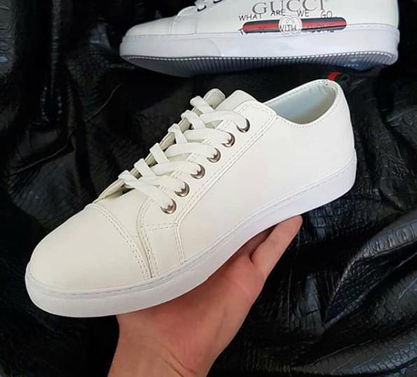 Кроссовки мужские Gucci D3773 белые