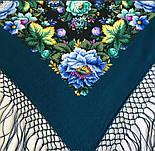 Диво дивное 1798-12, павлопосадский платок (шаль) из уплотненной шерсти с шелковой вязанной бахромой, фото 9