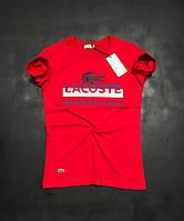 Футболка мужская Lacoste D3760 красная, фото 1