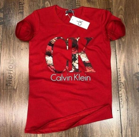 Футболка мужская Calvin Klein D3812 красная