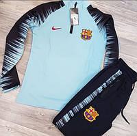 Спортивный костюм Nike Barcelona D3810 темно-синий, бирюзовый
