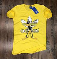 Футболка мужская Adidas D3817 желтая
