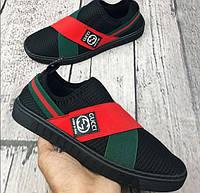 Мокасины мужские Gucci D3775 черные, фото 1