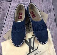 Эспадрильи Louis Vuitton D3777 темно-синие