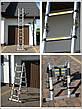Лестница телескопическая алюминий 3.8 м + стабилизато, фото 2