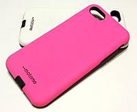 Чехол для iPhone 7 накладка противоударная Motomo Sport (Stripes) розовый, фото 1