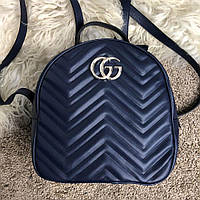Gucci GG Marmont Quilted Backpack Blue, фото 1