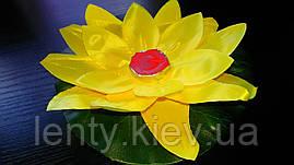 Плавающий, водный фонарик Лилия - Ткань (ПВХ)-