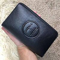 Hermes Wallet Twin Calvi Black, фото 1