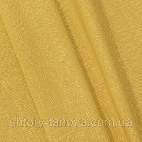 Рогожка, однотонный жёлто-горчичный