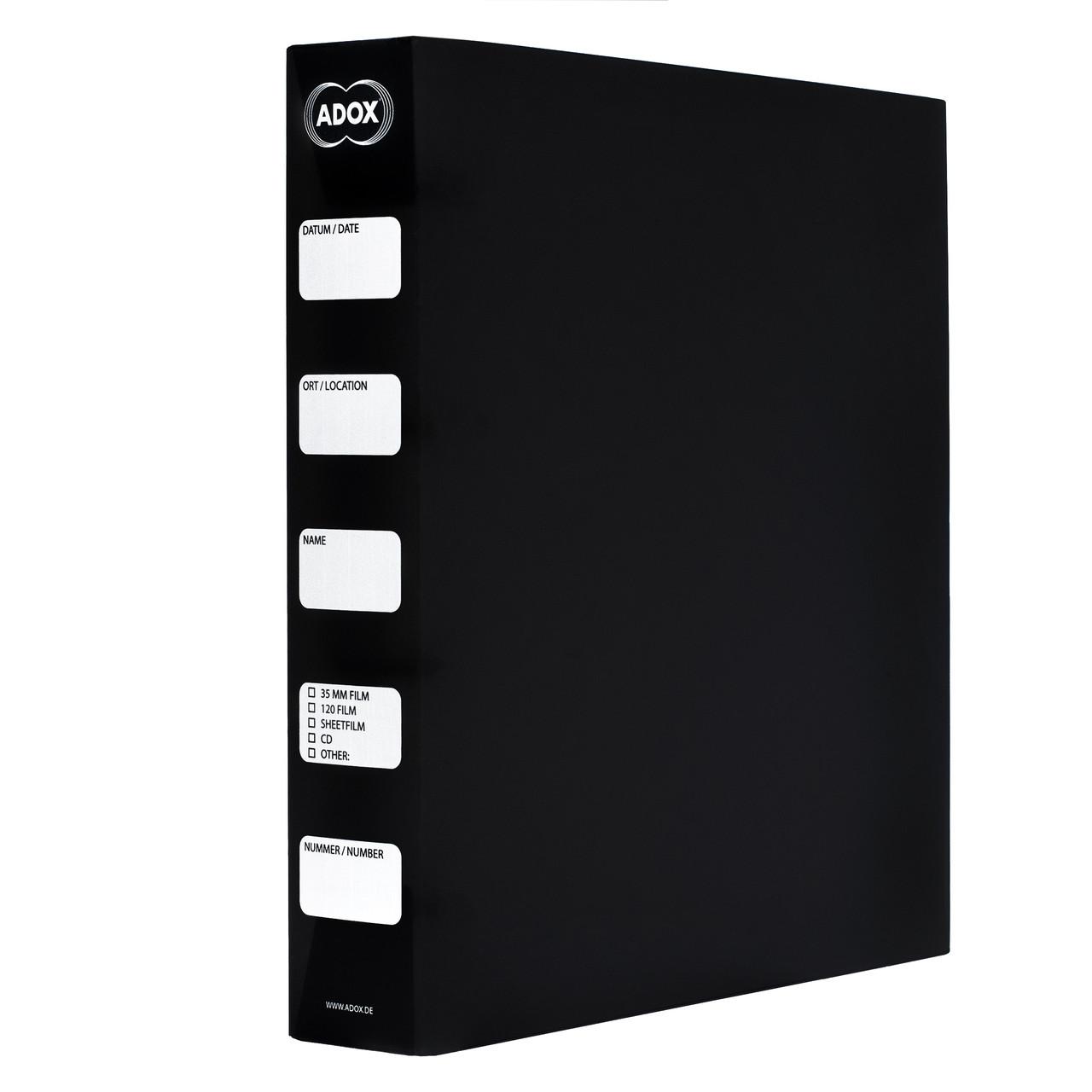 Папка-коробка ADOX Adofile пластиковая на кольцах для архивного хранения негативов в принт-файлах